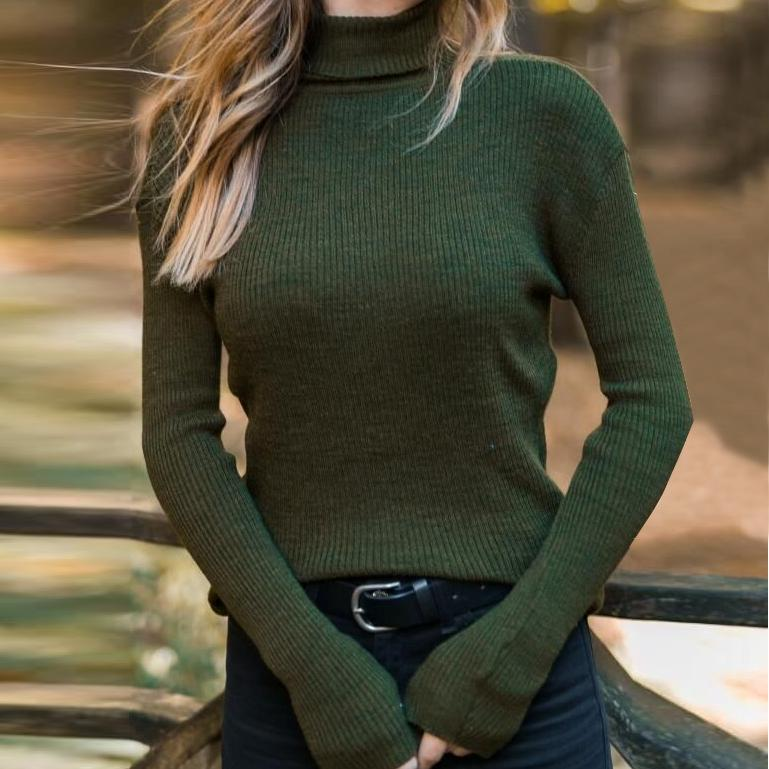 Ficcia High Neck Long Sleeve Fitted Sweater