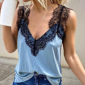 Ficcia Summer V-Neck Sleeveless Top