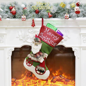 Ficcia Christmas Gift Candy Socks Bag