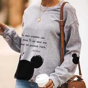 Mickey Mouse Classic Round Neck Design Casual Sweatshirt