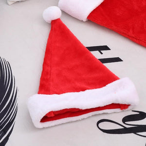 Ficcia Christmas Decoration Upscale Short Plush Thicken Big Ball Hat