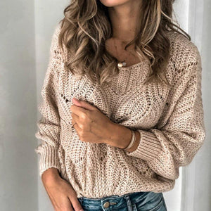 Ficcia Casual Round Neck Long Sleeve Sweater