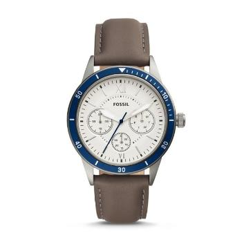 Flynn Sport Multi-function Gray Leather Watch - Oboapparel Egypt