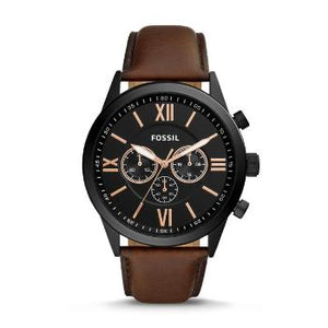 Flynn Chronograph Brown Leather Watch - Oboapparel Egypt