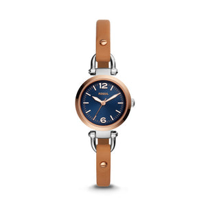 GEORGIA THREE-HAND Luggage Leather Watch for Woman - Oboapparel Egypt