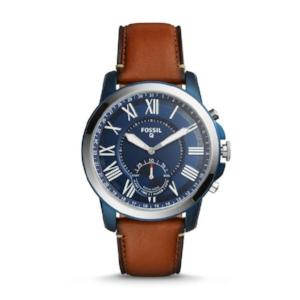 Fossil Men Hybrid SmartWatch - Q Grant Luggage Leather - Oboapparel Egypt
