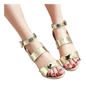 HEE GRAND Gold Silver High Heels 2017 Summer Gladiator Sandals Sexy Platform Shoes Woman Casual Shoes Size 35-43 XWZ4075 - Oboapparel Egypt