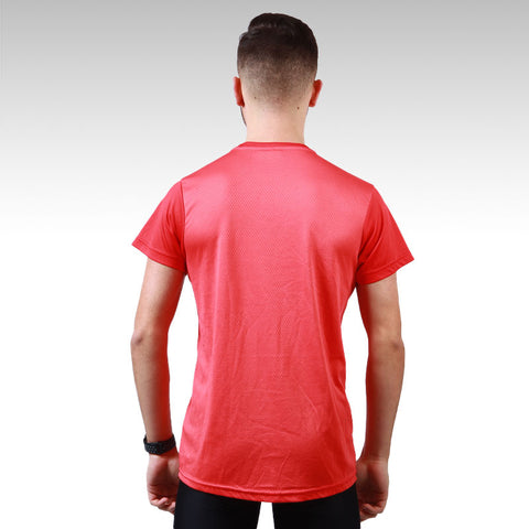 T-shirt Contraste Rouge