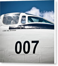 Uss Yorktown -ea-3b Skywarrior 007  - Canvas Print