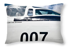 Uss Yorktown -ea-3b Skywarrior 007  - Throw Pillow