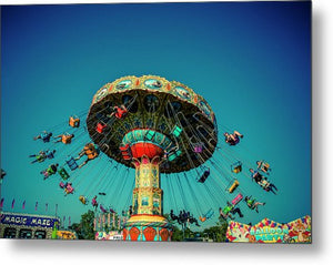 Carousel Swings - Metal Print