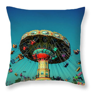 Carousel Swings - Throw Pillow