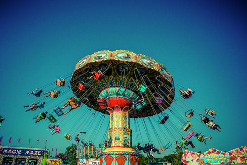 Carousel Swings - Art Print