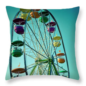 Colorful Ferris Wheel Photo  - Throw Pillow