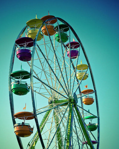 Ferris Wheel Photo  - Art Print