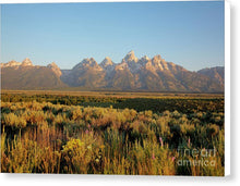 Teton Mountians - Canvas Print