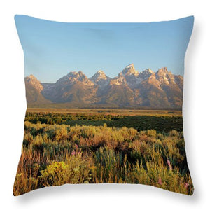 Teton Mountians - Throw Pillow