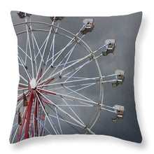 Ferris Wheel Grey sky - Throw Pillow
