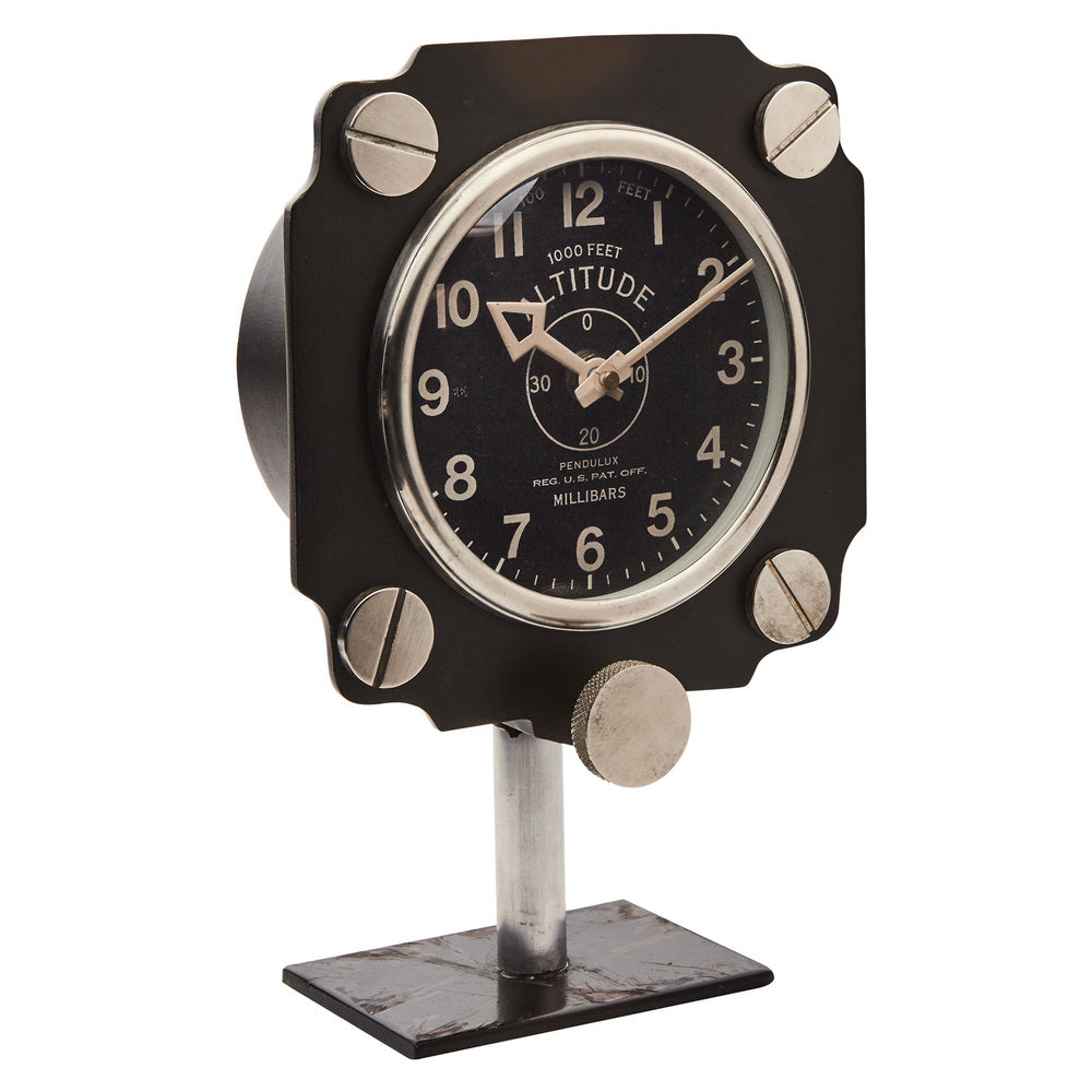 ALTIMETER MANTEL CLOCK BLACK