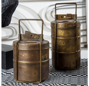 Antique Tiffin Brass Ast'd Boxes