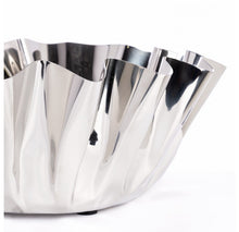 "Polished Stainless Steel Narciss Bowl 12""D"