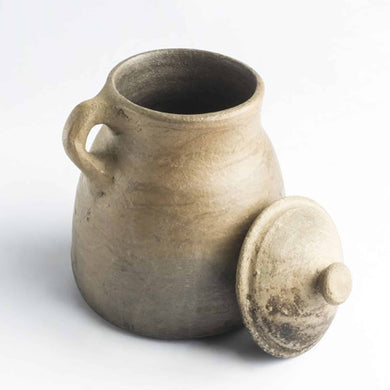 BEAN POT NATURAL CLAY POT LARGE MADE IN EGYPT
