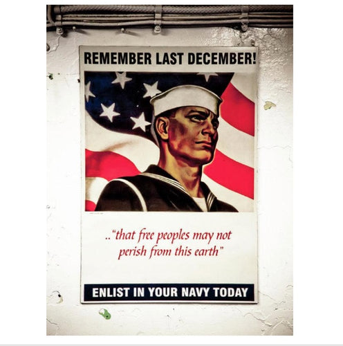 Enlist In Your Navy -Art Print