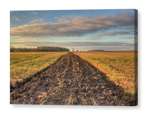 Farm Field Freshly Plowed - Canvas Print