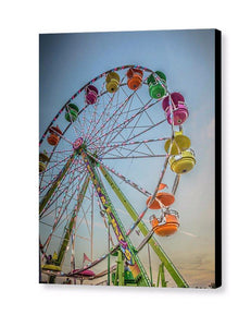 Giant Ferris Wheel At Sunset- Canvas Print