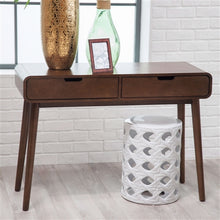 Modern Classic Solid Wood Console Sofa Table in Walnut Wood Finish