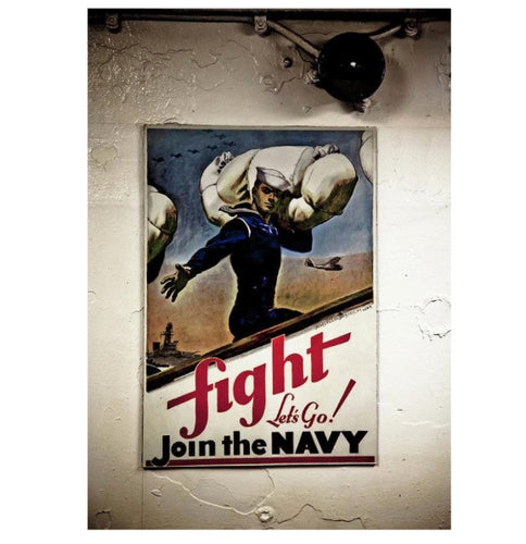 Navy Poster Fight  - Art Print