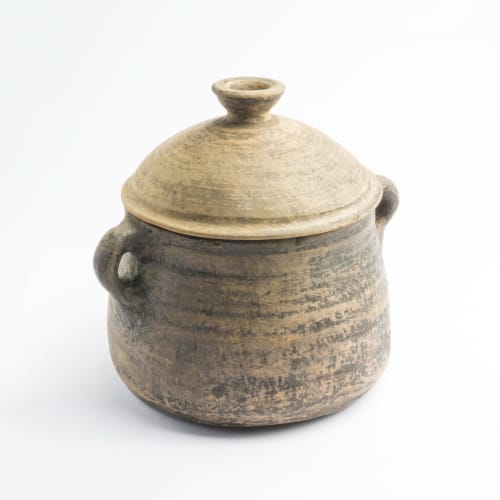 STEW POT NATURAL CLAY POT MEDIUM MADE IN EGYPT