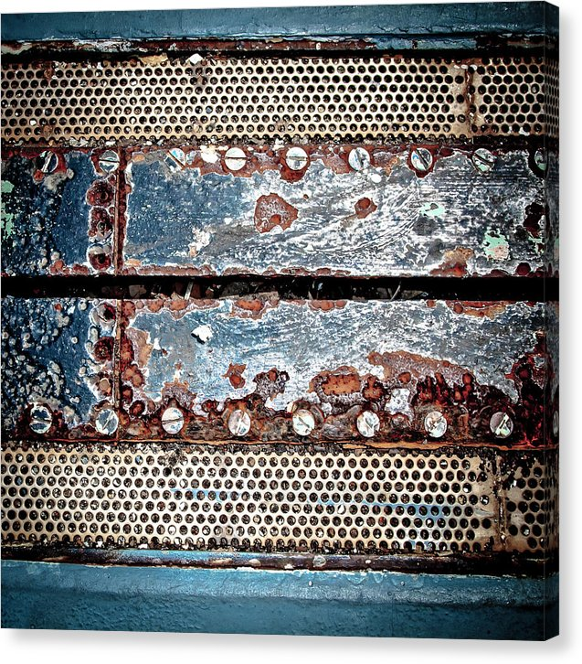 Aircraft Carrier Deck Grate - Canvas Print