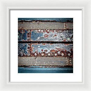 Aircraft Carrier Deck Grate - Framed Print