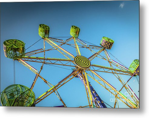 Amusement Ride  - Metal Print