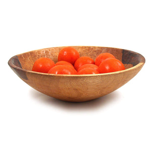 Sobremesa Fairtrade Hand Made Higuerilla Wood Salad Serving Bowl, 14 Inch