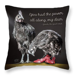 Chicken Wall Art- Glenda The Good Witch  - Throw Pillow