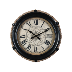 COMPASS CLOCK SMALL BLACK