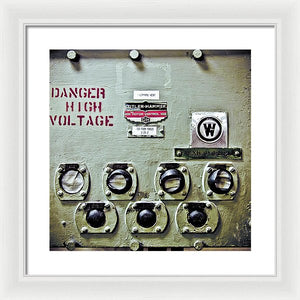 Uss Yorktown Danger High Voltage - Framed Print