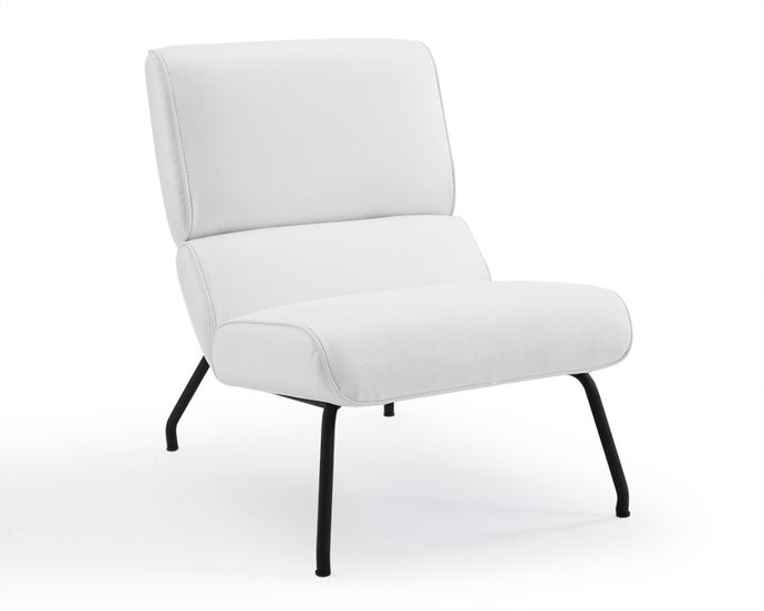 Elouise chair white faux leather Chair