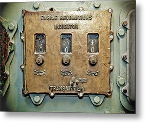 Uss Yorktown Engine Revolutions Indicator - Metal Print