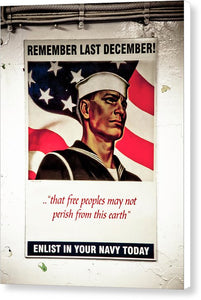 Enlist In Your Navy  - Canvas Print