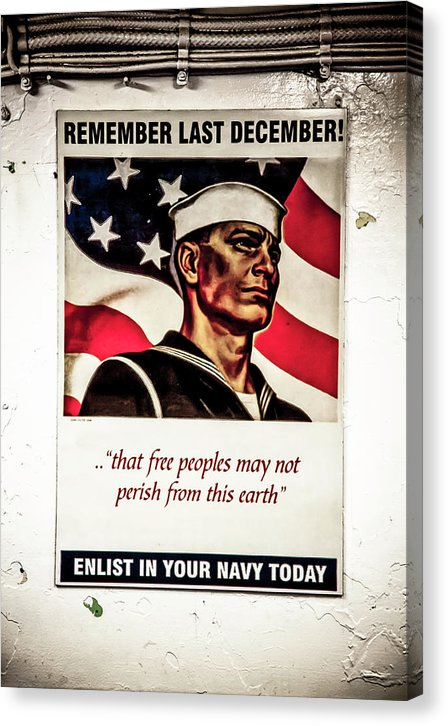 Enlist In Your Navy Today Art  - Canvas Print