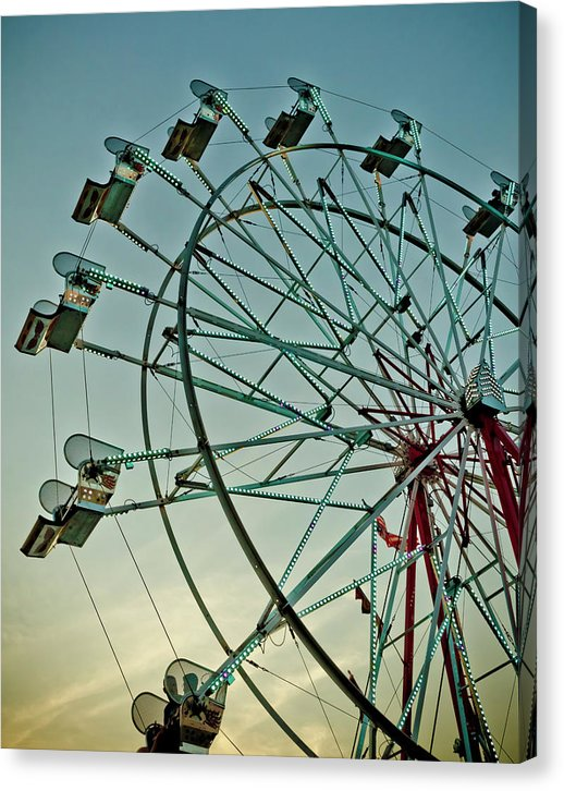 Ferris Wheel At Sunset - Canvas Print