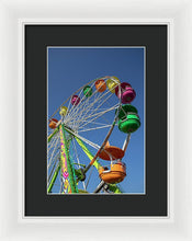 Looking Up At A Giant Ferris Wheel - Framed Print