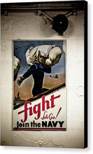 Fight Join The Navy - Canvas Print