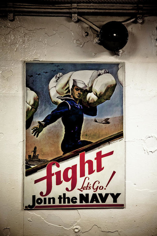 Fight Join The Navy - Art Print