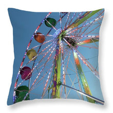 Lights On A Giant Ferris Wheel  - Throw Pillow