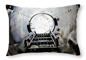 Uss Yorktown Hatch - Throw Pillow