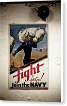 Navy Poster Fight  - Canvas Print